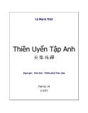 Trọn Bộ Lịch Sử Việt Nam - Thiền Uyển Tập Anh