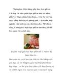Những lưu ý khi dùng giấy bọc thực phẩm