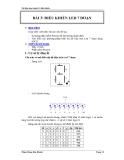 Tài liệu thực hành Vi điều khiển - Điều khiển Led