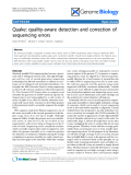 """Báo cáo y học: """"Quake: quality-aware detection and correction of sequencing errors"""""""