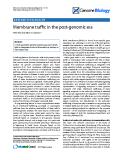 "Báo cáo y học: "" Membrane traffic in the post-genomic era."""