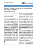 "Báo cáo y học: ""Dramatic changes in transcription factor binding over evolutionary time"""