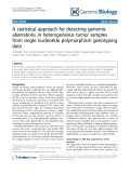"Báo cáo y học: ""A statistical approach for detecting genomic aberrations in heterogeneous tumor samples from single nucleotide polymorphism genotyping data"""