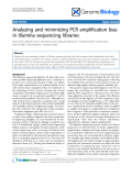 """Báo cáo y học: """"Analyzing and minimizing PCR amplification bias in Illumina sequencing libraries"""""""