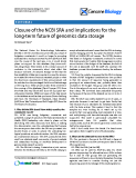 """Báo cáo y học: """"Closure of the NCBI SRA and implications for the long-term future of genomics data storage"""""""