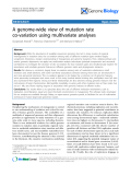"""Báo cáo y học: """"A genome-wide view of mutation rate co-variation using multivariate analyses"""""""
