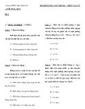 Đề kiểm tra 1 tiết Vật lý lớp 10