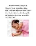 4 cách phòng tiêu chảy cho bé