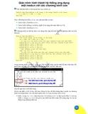 Giáo trình hình thành hệ thống ứng dụng một modun với các chương trình con p1