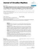 "Báo cáo y học: ""The relationship between the rate of melatonin excretion and sleep consolidation for locomotive engineers in natural sleep setting"""