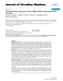 """Báo cáo y học: """"Circadian phase response curves to light in older and young women and me"""""""