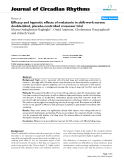"Báo cáo y học: "" Efficacy and hypnotic effects of melatonin in shift-work nurses: double-blind, placebo-controlled crossover trial"""
