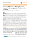 """Báo cáo y học: """"Fine-scale differences in diel activity among nocturnal freshwater planarias (Platyhelminthes: Tricladida)"""""""