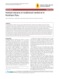 "Báo cáo y học: "" Herbal mixtures in traditional medicine in Northern Peru"""