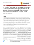 """Báo cáo y học: """"In search of traditional bio-ecological knowledge useful for fisheries co-management: the case of jaraquis Semaprochilodus spp. (Characiforme"""""""