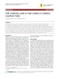"Báo cáo y học: ""Folk medicine used to heal malaria in Calabria (southern Italy"""
