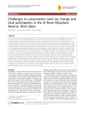 "Báo cáo y học: ""Challenges to conservation: land use change and local participation in the Al Reem Biosphere Reserve, West Qatar"""