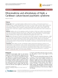 """Báo cáo y học: """"Ethnomedicine and ethnobotany of fright, a Caribbean culture-bound psychiatric syndrome"""""""