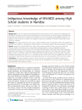 """Báo cáo y học: """" Indigenous knowledge of HIV/AIDS among High School students in Namibia"""""""