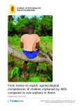 "Báo cáo y học: ""From novice to expert: agroecological competences of children orphaned by AIDS compared to non-orphans in Benin."""