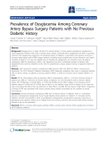 """Báo cáo y học: """"Prevalence of Dysglycemia Among Coronary Artery Bypass Surgery Patients with No Previous Diabetic History"""""""