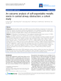 "Báo cáo y học: ""An outcome analysis of self-expandable metallic stents in central airway obstruction: a cohort study"""