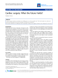 """Báo cáo y học: """"Cardiac surgery: What the future holds"""""""