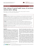 """Báo cáo y học: """"Data mining of mental health issues of non-bone marrow donor siblings."""""""