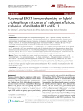 """Báo cáo y học: """" Automated ERCC1 immunochemistry on hybrid cytology/tissue microarray of malignant effusions: evaluation of antibodies 8F1 and D-10."""""""