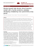 "Báo cáo y học: ""Moving towards high density clinical signature studies with a human proteome catalogue developing multiplexing mass spectrometry assay panels"""