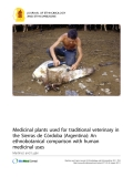 "Báo cáo y học: ""Medicinal plants used for traditional veterinary in the Sierras de Córdoba (Argentina): An ethnobotanical comparison with human medicinal uses"""