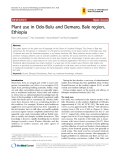 """Báo cáo y học: """"Plant use in Odo-Bulu and Demaro, Bale region, Ethiopia"""""""