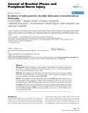 "Báo cáo y học: ""Incidence of early posterior shoulder dislocation in brachial plexus birth palsy"""