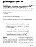 """Báo cáo y học: """"Endoscopic Carpal Tunnel Release using a modified application technique of local anesthesia: safety and effectiveness."""""""