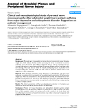 "Báo cáo y học: ""Clinical and neurophysiological study of peroneal nerve mononeuropathy after substantial weight loss in patients suffering from major depressive and schizophrenic disorder: Suggestions on patients' management"""