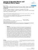 """Báo cáo y học: """"Celecoxib accelerates functional recovery after sciatic nerve crush in the rat"""""""