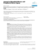 """Báo cáo y học: """"Concomitant presentation of carpal tunnel syndrome and trigger finger"""""""