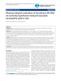 "Báo cáo y học: ""Pharmacological evaluation of tacrolimus (FK-506) on ischemia reperfusion induced vasculatic neuropathic pain in rats"""