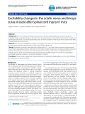 """Báo cáo y học: """"Excitability changes in the sciatic nerve and triceps surae muscle after spinal cord injury in mice."""""""