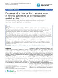 """Báo cáo y học: """"Prevalence of accessory deep peroneal nerve in referred patients to an electrodiagnostic medicine clinic"""""""