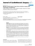 """Báo cáo y học: """"BioGlue and Peri-strips in lung volume reduction surgery: pilot randomised controlled trial"""""""