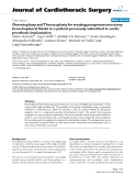 "Báo cáo y học: ""Omentoplasty and Thoracoplasty for treating postpneumonectomy bronchopleural fistula in a patient previously submitted to aortic prosthesis implantation"""
