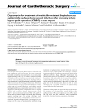 """Báo cáo y học: """"Daptomycin for treatment of methicillin-resistant Staphylococcus epidermidis saphenectomy wound infection after coronary artery bypass graft operation (CABG): a case repor"""""""