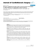 """Báo cáo y học: """"Primary congenital anomalies of the coronary arteries and relation to atherosclerosis: an angiographic study in Lebanon"""""""