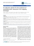 """Báo cáo y học: """"An alternate solution for the treatment of ascending aortic aneurysms: the wrapping technique"""""""