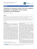 """Báo cáo y học: """"Treatment of pancoast tumors from the surgeons prospective: re-appraisal of the anteriormanubrial sternal approach"""""""
