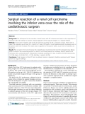 """Báo cáo y học: """" Surgical resection of a renal cell carcinoma involving the"""""""