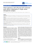 "Báo cáo y học: ""Initial experience with off-pump left ventricular assist device implantation in single center: retrospective analysis"""