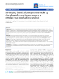 """Báo cáo y học: """" Minimizing the risk of perioperative stroke by clampless off-pump bypass surgery: a retrospective observational analysis"""""""