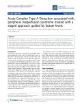 """Báo cáo y học: """"Acute Complex Type A Dissection associated with peripheral malperfusion syndrome treated with a staged approach guided by lactate levels"""""""